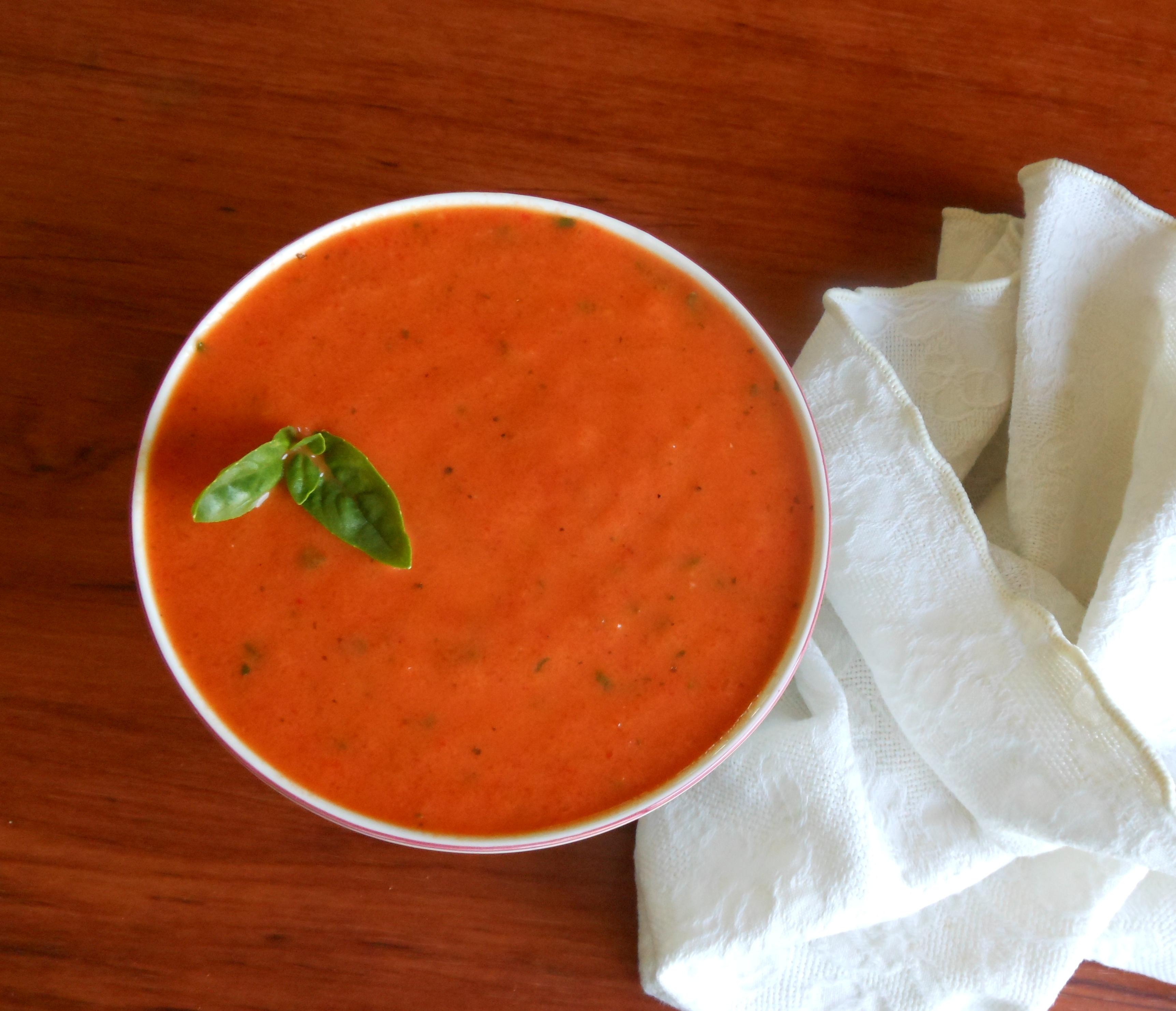 Roasted red pepper soup, for Laurie | Rivertree kitchen